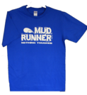 Mud Runner Adult Sized T-shirt (BLUE)
