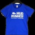 Mud Runner Adult Ladyfit T-shirt (BLUE)